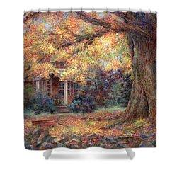 Golden Autumn Shower Curtain by Susan Savad