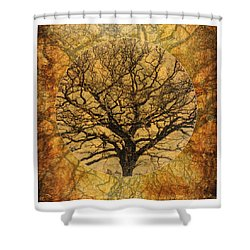 Golden Autumnal Trees Shower Curtain