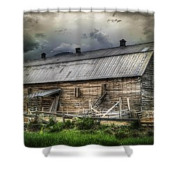 Golden Barn Shower Curtain