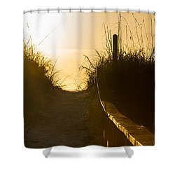 Golden Beach Access Shower Curtain