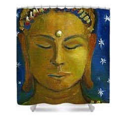 Golden Buddha Shower Curtain