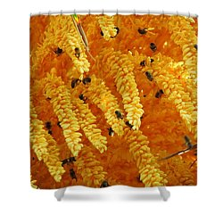 Golden  Buzz Shower Curtain