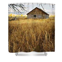 Golden Cabin Shower Curtain