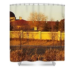 Golden Carmel Shower Curtain by Caryl J Bohn