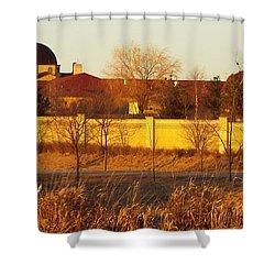 Golden Carmel Shower Curtain
