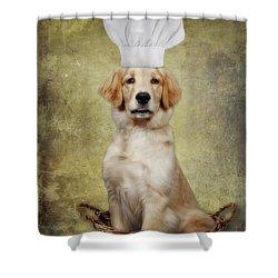 Golden Chef Shower Curtain by Susan Candelario