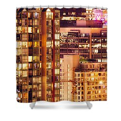 Shower Curtain featuring the photograph City Of Vancouver - Golden City Of Lights Cdlxxxvii by Amyn Nasser