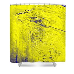 Golden Clouds One Snowy Hill Shower Curtain by Feile Case