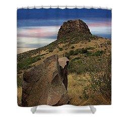 Golden Colorado Sunset  Shower Curtain by AR Annahita