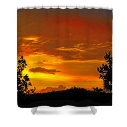 Shower Curtain featuring the photograph Golden Dawn by Mark Blauhoefer