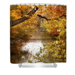 Golden Days Shower Curtain by Jessica Jenney