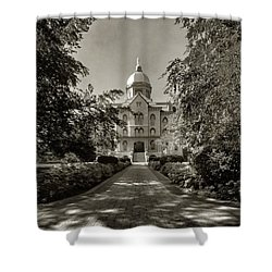 Golden Dome At Notre Dame University Shower Curtain