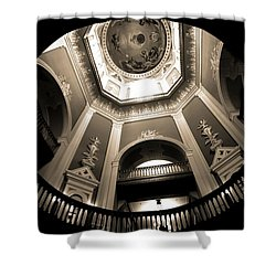 Golden Dome Ceiling Shower Curtain by Dan Sproul
