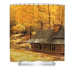 Shower Curtain featuring the photograph Golden Dream Home by Geraldine DeBoer