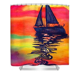 Golden Dreams Shower Curtain by Lil Taylor