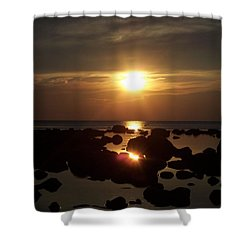 Golden Dusk Shower Curtain