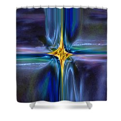 Golden Entity Shower Curtain