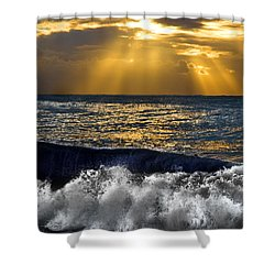 Golden Eye Of The Morning Shower Curtain