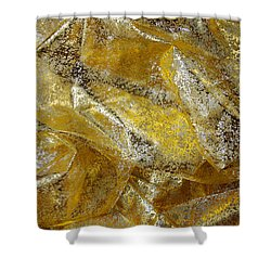 Golden Fabric Shower Curtain by Carlos Caetano