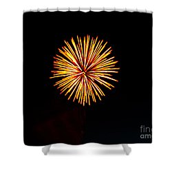 Golden Fireworks Flower Shower Curtain by Robert Bales
