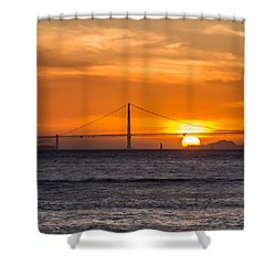 Golden Gate - Last Light Of Day Shower Curtain