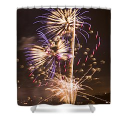 Golden Gate Bridge 75th Anniversary Fireworks 10 Shower Curtain