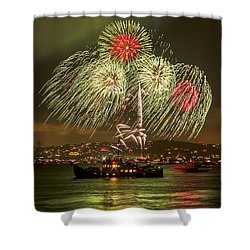 Golden Gate Bridge 75th Anniversary Fireworks 17 Shower Curtain