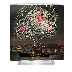 Golden Gate Bridge 75th Anniversary Fireworks 18 Shower Curtain