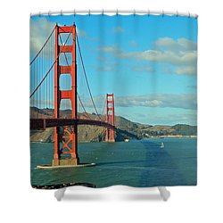 Golden Gate Bridge Shower Curtain by Emmy Marie Vickers