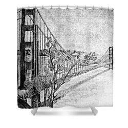 Golden Gate Bridge Shower Curtain by Irving Starr