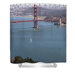 Golden Gate Bridge Shower Curtain by Jenna Szerlag