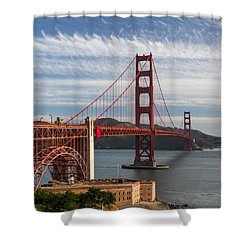 Golden Gate Bridge Morning Light Shower Curtain
