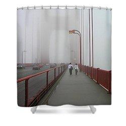 G. G. Bridge Walking Shower Curtain