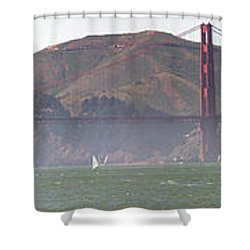 Golden Gate Bridge Panorama Shower Curtain