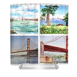 Golden Gate Bridge San Francisco California Shower Curtain by Irina Sztukowski