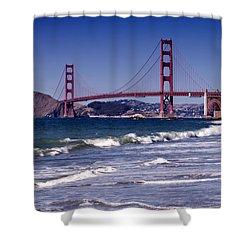 Golden Gate Bridge - Seen From Baker Beach Shower Curtain