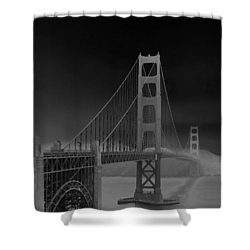 Golden Gate Bridge To Sausalito Shower Curtain by Connie Fox