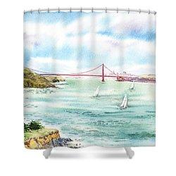 Golden Gate Bridge View From Point Bonita Shower Curtain