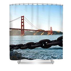Golden Gate Bridge With Chain Shower Curtain
