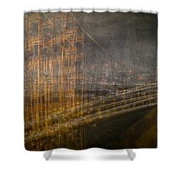 Golden Gate Chaos Shower Curtain