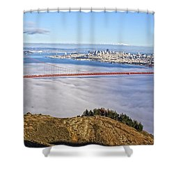 Shower Curtain featuring the photograph Golden Gate by Dave Files