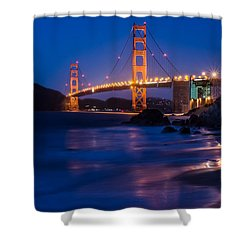 Golden Gate Glow Shower Curtain