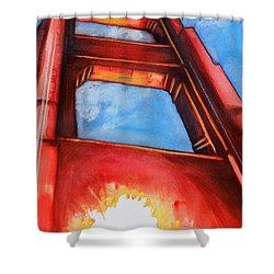Golden Gate Light Shower Curtain