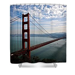 Golden Gate Open Shower Curtain by Eric Tressler