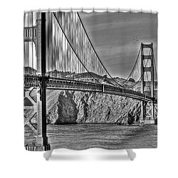 Golden Gate Over The Bay 2 Shower Curtain