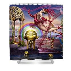 Golden Gazebos Shower Curtain by Ciro Marchetti