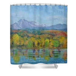 Golden Glory At Golden Ponds Shower Curtain