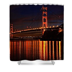 Shower Curtain featuring the photograph Golden Glory by Dave Files
