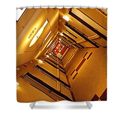 Golden Hall Shower Curtain by Frozen in Time Fine Art Photography