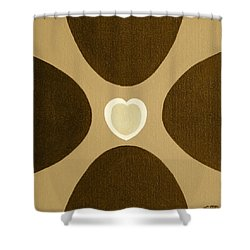 Golden Heart 3 Shower Curtain